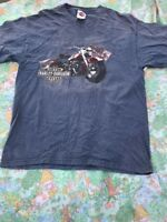 Adventure Harley Davidson Motorcycles Dover Vintage USA Made Iowa T-shirt
