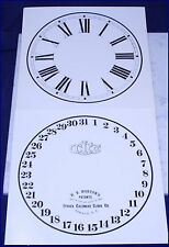 ITHACA CALENDAR CLOCK REPLACEMENT DIALS LATE FARMERS #10 OLD STOCK GLOSSY