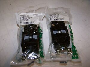2) NEW BRYANT 20 AMP BLACK DUPLEX RECEPTACLE 125 VAC 2 POLE 3 WIRE BRY5362