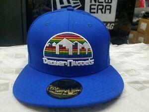 New Era NBA Denver Nuggets Team Logo Blue Fitted 59FIFTY Cap Hat NewEra