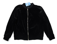New Look Womens Size 14 Black Velour Soft Autumn Casual Jacket
