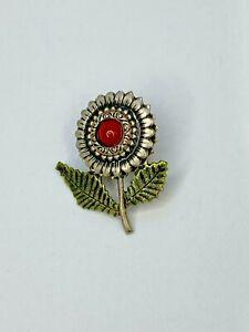 Southwestern Jasper Brooch VIntage Leopardskin Jasper Pin Gemstone Jewelry