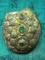 Phra Somdej Prok Bodhi Wat Phra Kaew Gem Talisman  Antique Thai Buddha Amulet