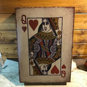 Queen of Hearts Cards Key Cupboard, Cabinet, Box, Holder, Rack Vintage Style