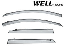 WellVisors Side Window Visors Deflectors W/ Black Trim For 05-09 Kia Spectra5