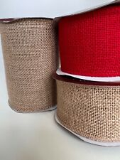 Wide Hessian Burlap Christmas Wedding Party 70mm  152mm - by the metre
