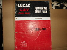 FORD CARS LUCAS SPARE PARTS CATALOGUE 1969