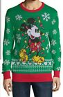 Disney Mickey Mouse Men's Ugly Christmas Sweater Green X-Large New