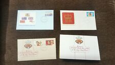 Royal Family First Day Cover issue stamps including Lady Diana/Prince Charles x4