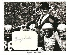 Tommy Prothro Autograph NFL Football UCLA Los Angeles Rams San Diego Chargers