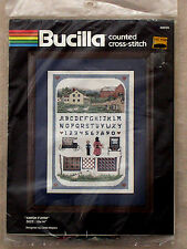 AMISH FARM COUNTED CROSS STITCH SAMPLER PICTURE KIT BUCILLA NEW