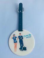 Aluminium Anhänger Come Fly With Me, Crew, Pilot, Stewardess, Flugbegleiter