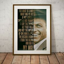 More details for frank sinatra my way lyrics new - two size options print poster olivia valentine