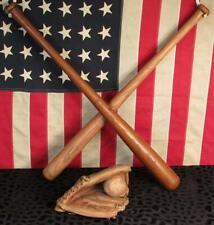 Vintage Pair Mickey Mantle Baseball Bats MacGregor & King Pro w/ Rawlings Glove