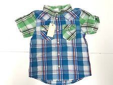 DIESEL New BOYS Kids Toddler PLAID COXTY BUTTON DOWN SHIRT Sz: 2Y RTL $72 R4