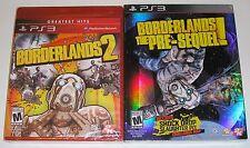 PlayStation 3 Game Lot - Borderlands 2 (New) Borderlands The Pre-Sequel (New)