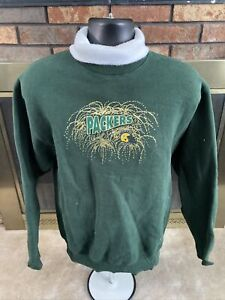 Vintage Green Bay Packers Football Turtle Neck Sweater Womens Size Large