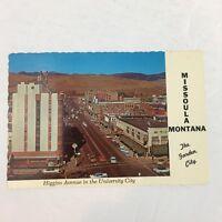 Vintage Postcard Missoula Montana State Higgins Avenue in the University City