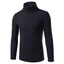 Mens Warm Cashmere Sweaters Turtleneck T-Shirt Jumper Pullover Knitwear Sweater