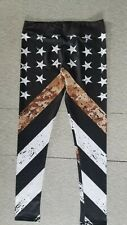 Xlusion Leggings Military Camouflage Flag Size L Polyester/Spandex Black