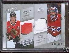 08-09 UD SP GAME USED JERSEY TOEWS & PRICE 91/100