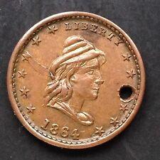 USA Civil War Token 1864 Head - Our Army 3970