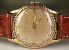 1940's Favre-Leuba Geneve 18K Yellow Gold WWII Era Military Vintage Swiss Watch