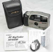 NEW - Minolta AF Big Finder AF150BF 35mm Film AA Point & Shoot Camera