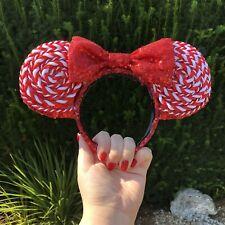 Christmas Disney Disneyland Minnie Mouse Inspired Ears Red Sequin Handmade