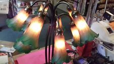 10 shade Tiffany Pond Amber/Green Lily Tiffany Table Lamp 1 ONLY