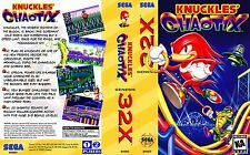 Knuckles Chaotix Sega 32x Replacement Box Art Case Insert Cover Scan