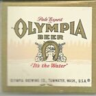 VINTAGE OLYMPIA BEER CO. FULL PACK MATCHES MATCHBOOK OLYMPIA BREWING TUMWATER WA