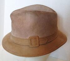 Vintage Tan Churchill Ltd Suede Hat 6 7/8 Men's Hat