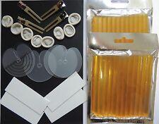24 Kératine Colle Bâtons pour petites Pistolet à noir brun ou transparent