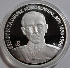 """200000 ZL ZLOTYCH POLAND POLEN 1990 General Komorowski """"Bór"""" SILVER UNC"""