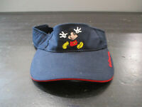 Disney Mickey Mouse Visor Hat Cap Blue Red Strap Back Adjustable Theme Park