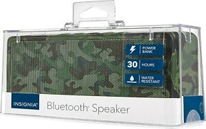 NEW Insignia Portable Bluetooth Camo Speaker with Powerbank NS-SPBTBRICK-CM