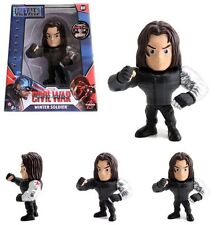 "JADA 4"" METALS CAPTAIN AMERICA CIVIL WAR WINTER SOLDIER DIE CAST FIGURE 97764"