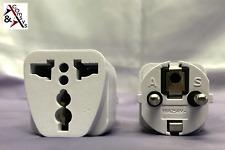 Reiseadapter UK GB USA auf EU Strom netz Adapter Schuko-Steckernetzstecker White