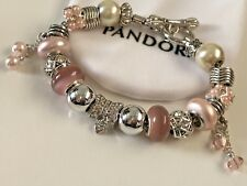 European Style Charm Bracelet with Beads and Charms, Toggle Clasp+VELVET POUCH