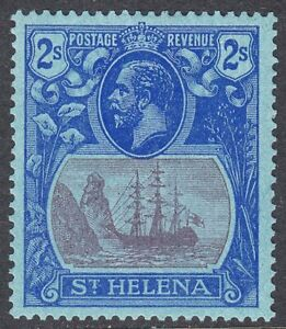 ST HELENA 1922-37 SG108 2/- PURPLE & BLUE/BLUE MNH