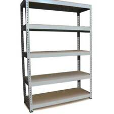 Librerías y estanterías color principal gris de acero para el hogar