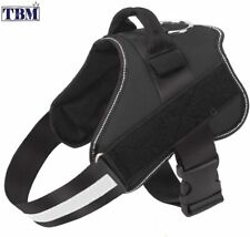No-Pull/Reflective/Breathable/Adjustable Pet Vest with Handle Black
