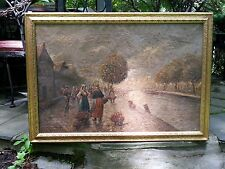 ORIGINAL OIL PAINTING BY ADOLF BAUMGARTNER 1850-1924 OIL ON CANVAS SIGNED LISTED