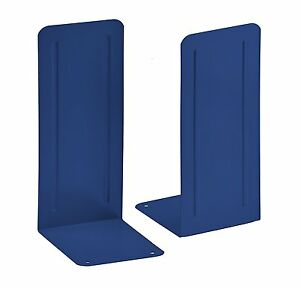 "Acrimet Jumbo Premium Bookends 9"" (Deep Blue Color) (1 Pair Pack)"