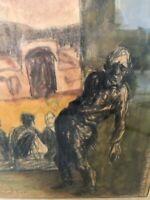 🔥 Antique Persian Iran Expressionist Painting - Masoud Sadeddin مسعود سعدالدین