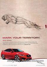 2013 Jaguar XFR-S Original Advertisement Print Art Car Ad J675