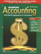 Glencoe Accounting: 1st Year Course, Chapter Reviews and Working Papers 1-28, Mc