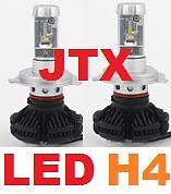 1 pr H4 JTX LED Globes Bulbs 12v 24v 6000 Lumen 50w