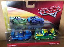 Cars 3 ERIC BRAKER & SPIKEY FILLUPS - Next Gen Racers - Mattel Disney Pixar